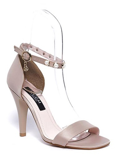 Kuum İnce Topuklu Ayakkabı Vizon
